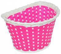 Košík dětský na říd.splétaný, růžový, 25x15x15