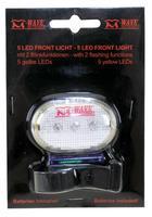 Světlo blik.přední M-Wave 3LED/2FCE, bílé diody