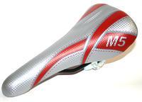 Sedlo MTB -stříbrno/červené, stříbrno/žluté M5