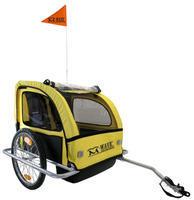 Dětský vozík - za jízdní kolo, Fe rám