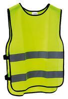 Vesta bezpečnostní žlutá, reflexní pruh, S/M