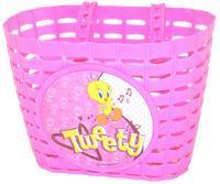 Košík dětský na řídítka plast.- růžový