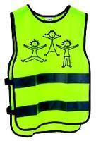 Vesta bezpečnostní žlutá dětská, refl. pruh XXS-XS