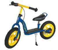 """Dětské odrážedlo -kolo, 12"""", Fe rám, modro/žluté"""
