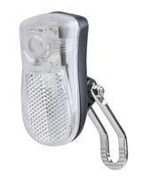 Přední světlo LED, bílá, 2fce,držák, baterie
