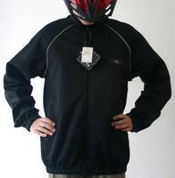 Bunda S-BIKE windster, fleece, černá