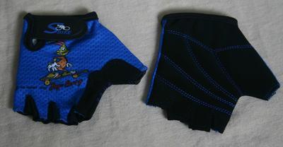 Rukavice cyklo- dětské, modré, 3XS, 2XS