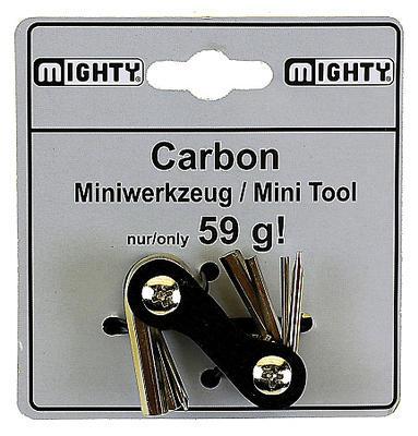 """Nářadí-""""multiklíč"""" 7fcí, karbon. tělo, 59gr."""