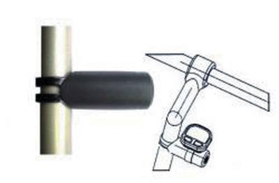 Adaptér pro cyklocomputer s objímkou,na představec