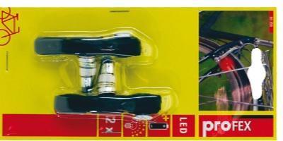 Brzdové botky MTB - imbus + červ. Led světlo