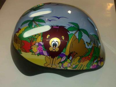 Přilba dětská- zvířátka džungle, 48-52, s kolečkem