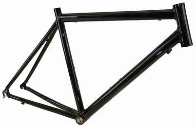 Rám-silniční, AL, 61cm, 7005 -černý mat, 1408gr.