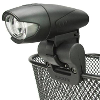 Držák světla na přední koš, Light Clip, černý