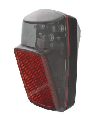 Zadní světlo na blatník - 3x LED diody, +baterie