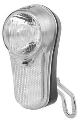 Přední světlo LED,bílá 0,5Watt, 2fce,držák,baterie