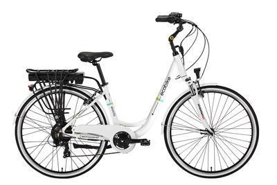 E-kolo EcoBike, City-L, 250W, 10.4 Ah, bílá, Do vyprodání zásob - SLEVA 10%